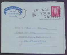 NIGERIA Postal History, 6d Aerogramme Stationery Used 17.2.1965 With Slogan Postmark On RADIO - Nigeria (1961-...)