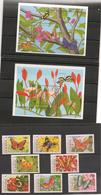 DOMINIQUE Papillons/ Butterfly  Année 1989 N°Y/T : 1121/24** Et 1129/33** Et Blocs N° 150-152** - Dominique (1978-...)
