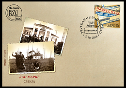 Serbia 2018. Stamp Day, Radio Belgrade Radiogram, FDC, MNH - Journée Du Timbre