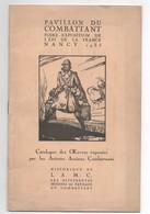 """Catalogue Des Oeuvres Exposées Par Les Anciens Combattants""""PAVILLON DU COMBATTANT""""Foire Expo Nancy""""1935""""peinture"""" - Catalogs"""