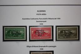 OCCUPAZIONE ITALIANA ALBANIA - POSTA AEREA COSTITUENTE - 1939 - MNH** - Albania