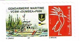 Nouvelle Caledonie Timbre Personnalise A Moi Prive Cagou Generique Gendarmerie Maritime VCSM Dumbea P606 Neuf Unc - Nouvelle-Calédonie