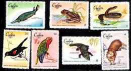 7660  BIrds - Parrots - Frogs - Crocodiles - 1969 - No Gum - Cb - 2,85 - Birds