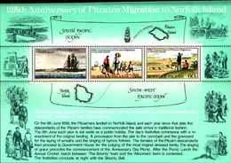 72397) NORFOLK ISLAND-MINISHEET Pitcairn Migrazione 125 Anni MNH**-BF.4 - Isola Norfolk