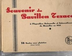 M34 / WERELDTENTOONSTELLING BRUSSEL 1935  PAVILJOEN TEXACO  16  PRENTKAARTEN - Places