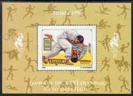 Mongolia 1996 Atlanta Olympics - Judo SPORT MARTIAL ARTS 600t Perf M/sheet U/m SG MS 2557b - Mongolia