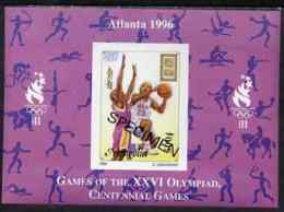 Mongolia 1996 Atlanta Olympics SPORT 500t (Basketball) Imperf M/sheet Opt'd SPECIMEN From Limited Printing, As SG 2557a - Mongolia