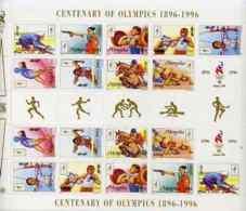 Mongolia 1996 Atlanta Olympics SPORT GYMNASTICS WEIGHTLIFTING SHOOTING BICYCLES WRESTLING HORSES ARCHERY BOXING HURDLING - Mongolia