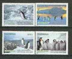 Mongolia 1997 25th Anniv Of Greenpeace ENVIRONMENT PENGUINS BIRDS Set Of 4 (Penguins) U/m SG 2576-9 - Mongolia