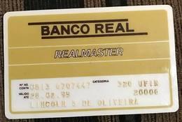 LSJP BRAZIL BANK CARD OF REAL - 02/1995 - THIS BANK DOES NOT EXIST MORE - Cartes De Crédit (expiration Min. 10 Ans)