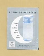 POCHETTE ECHANTILLON SACHET POCKET LE MONDE DES REVES * ISABEL DERROISNE - Perfume Samples (testers)