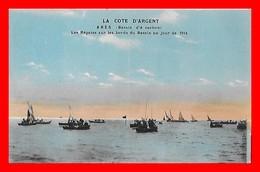 CPA (33) ARES.  Les Régates Sur Les Bords Du Bassin Un Jour De Fête, Animé...H655 - Arès