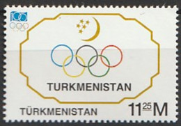Turkmenistan 1994 The 100th Anniversary Of International Olympic Committee Or IOC  1v Nh - Turkmenistán
