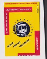 SAN FRANCISCO MUNICIPAL RAILWAY - Tramways