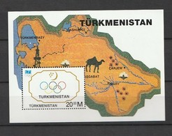 Turkmenistan 1994 The 100th Anniversary Of International Olympic Committee Or IOC  S/s Nh - Turkmenistán