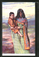 Künstler-AK A Mohave Indian Squaw And Papoose - Indianer