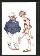Künstler-AK Teodor Axentowicz: Kapitän Und Matrose Im Gespräch - Autres Illustrateurs