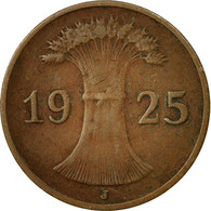 Monnaie, Allemagne, République De Weimar, Reichspfennig, 1925, Hamburg, TTB - [ 3] 1918-1933 : República De Weimar