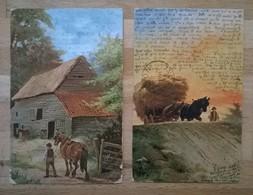 Lot De 2 Cartes Postales Anciennes Anglaises S. Hildesheimer +2 - Paintings