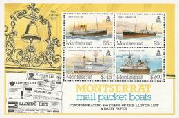 Montserrat,  Scott 2018 # 542a,  Issued 1984,  S/S Of 4,  MNH,  Cat $ 4.25,  Ships - Montserrat