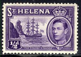 St Helena 1938 -44 KGV1 1/2d Violet MM SG 131 ( G999) - Saint Helena Island