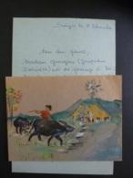 """Carte Postale Peinte Par  """"Soeurs Vietnamiennes"""" SAIGON VIET-NAM-Dessin Original- NOEL 1971 Clas 5 - Natale"""