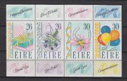Irlanda Nuovi:  N. 711-4  In Blocco - 1949-... Repubblica D'Irlanda