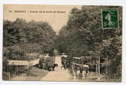 15. Brunoy. Entree De La Foret De Senart. Attelages, Autobusa Chevaux, Caleches - Brunoy