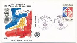 """FRANCE - Enveloppe - Cachet Temporaire """"Année Charles De Gaulle"""" - NIMES - 4.5.1990 - De Gaulle (General)"""