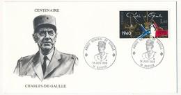 """FRANCE - Enveloppe - Cachet Temporaire """"Année Général De Gaulle"""" - 14 BAYEUX - 14.6.1990 - De Gaulle (General)"""