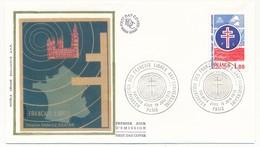 FRANCE - Enveloppe FDC - 1,00 Association Des Français Libres - 30eme Anniversaire - PARIS - 19.6.1976 - De Gaulle (General)