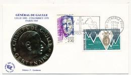 FRANCE - Enveloppe - OMEC Illustrée De GRENOBLE / FOCH - 18.6.1990 - De Gaulle (General)