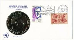 """FRANCE - Enveloppe - OMEC Illustrée """"La Ligne Maginot A Rempli Sa Mission"""" - 67 SOULTZ - 14.6.1990 - De Gaulle (General)"""