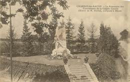 """/ CPA FRANCE 71 """"Charnay Les Macon, Le Monument Des Combattants De La Grande Guerre"""" - Autres Communes"""