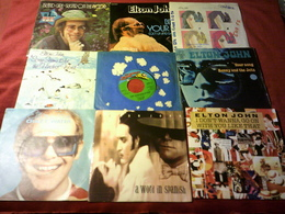COLLECTION DE 20 VINYLES 45 TOURS DE ELTON JOHN - Complete Collections