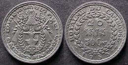 CAMBODGE 50 CENT 1953 Royaume INDOCHINE FRANCAISE / CAMBODIA / INDOCHINA PORT OFFERT - Colonias