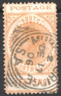 10d. Thin «Postage» SG 274 - 1855-1912 South Australia