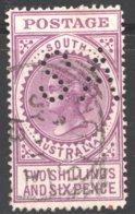 2/6  Thick «Postage»  Bright Violet SG 304  «SA» Perfin - 1855-1912 South Australia