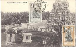 1910 - C P A  De L'Inde Française   Affr. Annulé   Cad INDE / KARIKAL - Briefe U. Dokumente