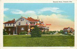281933-Nebraska, Fremont, Masonic Home, Fremont News Co By Curteich No 7A71-N - Fremont