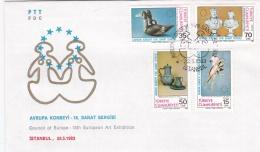 Turkey FDC 1983 Council Of Europe - 18th European Art Exhibition (G94-23) - Organizations