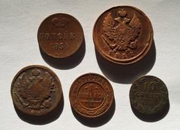 RUSSIE. 5 PIECES 1812 - 1911. RUSSIA. - Russie