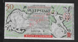 MILITARIA ANCIEN BILLET DE LOTERIE CROUIX ROUGE LUXEMBOURGEOISE ( LUXEMBOURG ) 1936 : : - Billets De Loterie