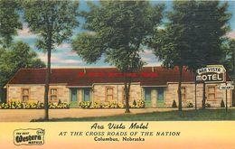 282013-Nebraska, Columbus, Ara Vista Motel, Lincoln Highway US 30, Tichnor Brothers No 81326 - Columbus