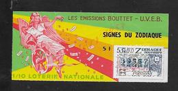 BILLET DE LOTERIE SIGNE ZODIAQUE 1975 : - Billets De Loterie