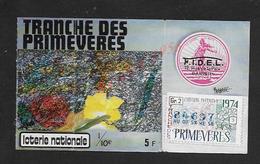 BILLET DE LOTERIE TRANCHE DES PRIMEVERES A LA SEMEUSE 1974 : - Billets De Loterie