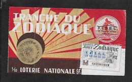 BILLET DE LOTERIE TRANCHE DU ZODIAQUE A LA SEMEUSE 1974 : - Billets De Loterie