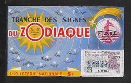 BILLET DE LOTERIE TRANCHE DU ZODIAQUE A LA SEMEUSE 1973 : - Billets De Loterie
