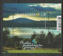 SI 2018-14 NATIONAL PARK - PIVSKA LAKES, SLOVENIA, S/S, MNH - Slovénie