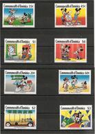DOMINIQUE Charmes D'Hollywood Walt Disney  Année 1989 N°Y/T : 1145/48-1179/82** Et Blocs N° 150 Et 152** - Dominica (1978-...)